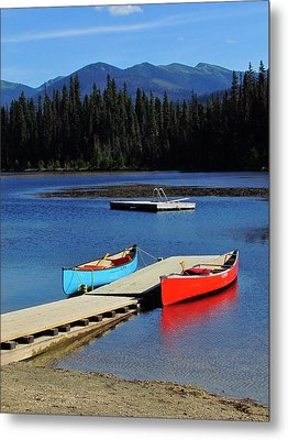 Day At The Lake Metal Print by Andrea Arnold