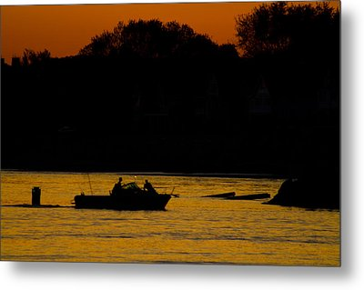Day Of Fishing Is Over Metal Print by Karol Livote