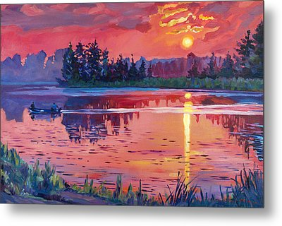 Daybreak Reflection Metal Print by David Lloyd Glover