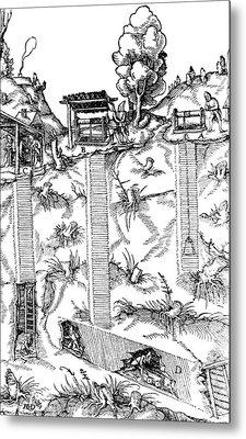 De Re Metallica, Mine Shafts, 16th Metal Print by Science Source