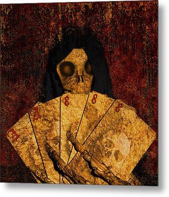 Deadmans Hand Metal Print by Robert Matson