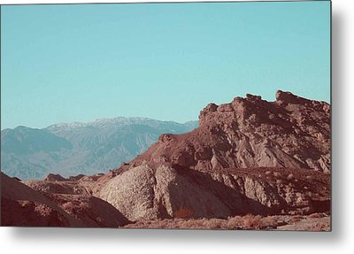 Death Valley Mountains Metal Print by Naxart Studio