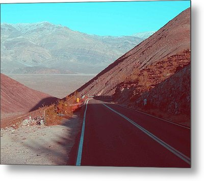 Death Valley Road 3 Metal Print by Naxart Studio
