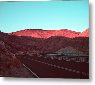 Death Valley Road 4 Metal Print by Naxart Studio