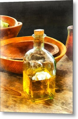 Decanter Of Oil Metal Print by Susan Savad