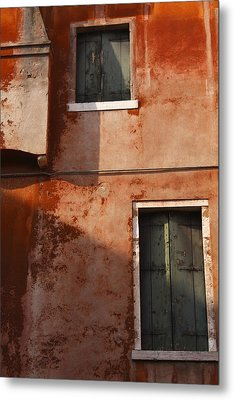 Decayed Facade Of A Building Venice Metal Print by Trish Punch