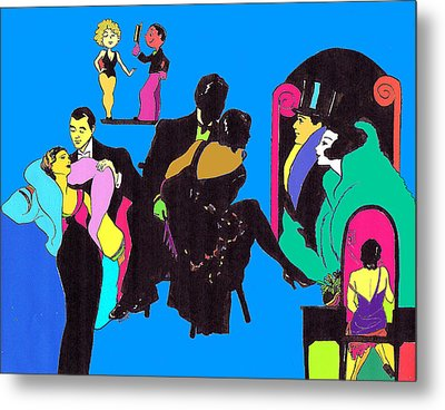 Deco Ads Color Metal Print by Mel Thompson