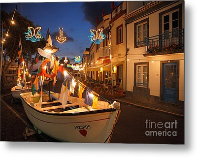Decorated Fishing Boats Metal Print by Gaspar Avila