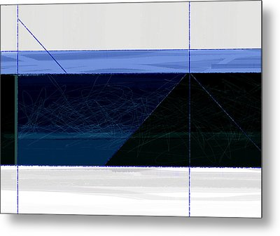 Deep Blue Metal Print by Naxart Studio