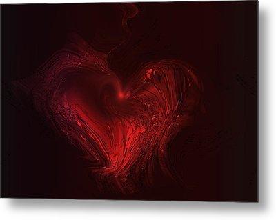 Deep Hearted Metal Print by Linda Sannuti