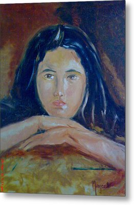 Deep In Thoughts Metal Print by Navjeet Gill