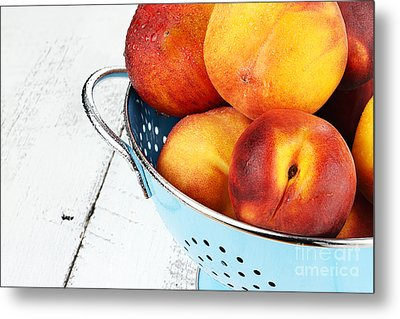 Delicious Peaches Metal Print by Stephanie Frey