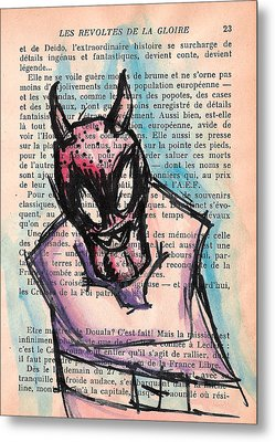 Demon In A Straightjacket Metal Print by Jera Sky