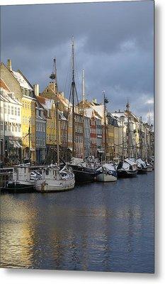Denmark, Copenhagen, Nyhavn, Boats Metal Print by Keenpress