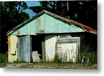 Derilict Building Metal Print by Phill Petrovic