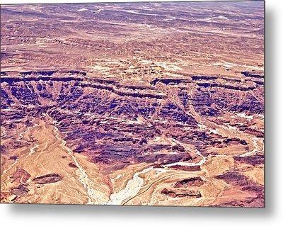 Desert Crater Metal Print by Jenn Bodro