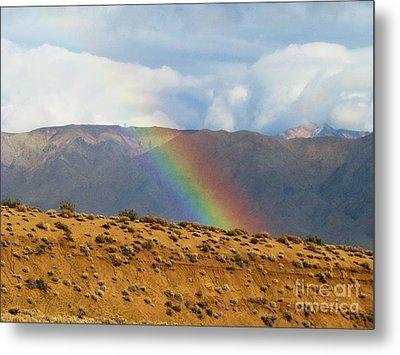 Desert Rainbow Metal Print by Michele Penner