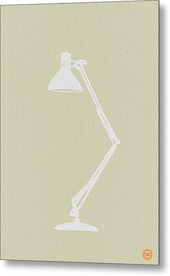 Desk Lamp Metal Print by Naxart Studio