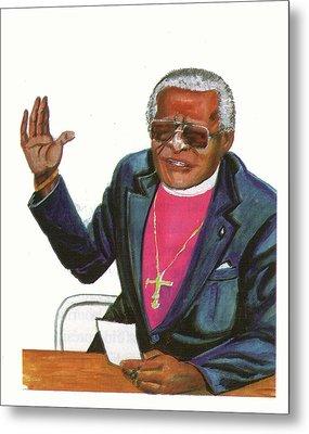 Desmond Tutu Metal Print by Emmanuel Baliyanga