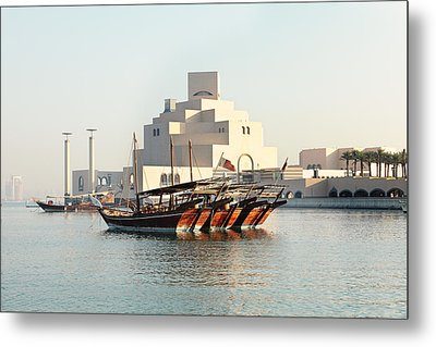 Dhows And Museum Metal Print by Paul Cowan