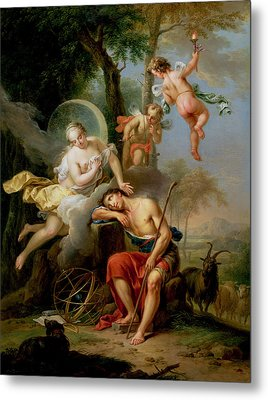 Diana And Endymion Metal Print by Frans Christoph Janneck