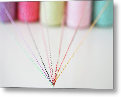 Different Colored Twine Twisting Together Metal Print by © Stacey Winters  www.staceywinters.com