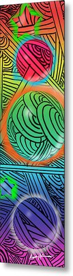 Digital Doodles Metal Print by Anthony Caruso