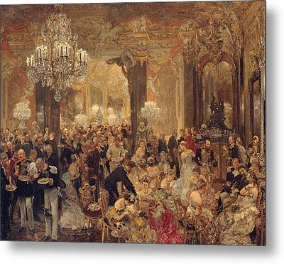 Dinner At The Ball Metal Print by