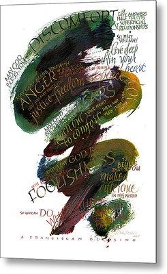 Discomfort Green Metal Print by Judy Dodds