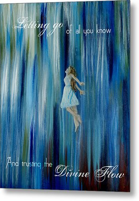 Divine Flow Metal Print by The Art With A Heart By Charlotte Phillips
