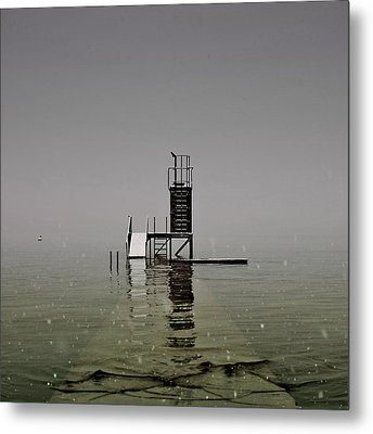 Diving Platform Metal Print by Joana Kruse
