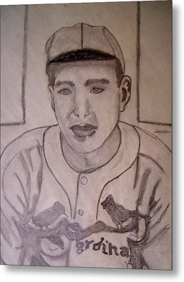 Dizzy Dean Cardinals Pitcher Metal Print by De Beall