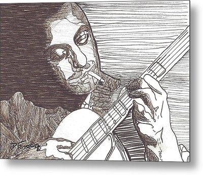 Django Metal Print by David Fossaceca