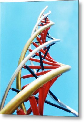 Dna Sculpture Metal Print by Victor Habbick Visions
