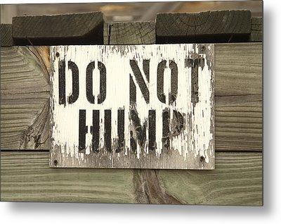 Do Not Hump Metal Print by Mike McGlothlen