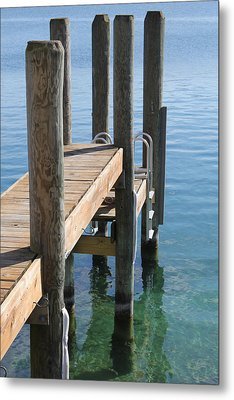 Docked Metal Print by Sheryl Burns