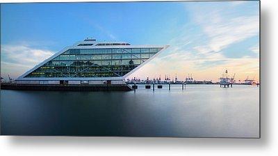 Dockland Evening Metal Print by Marc Huebner