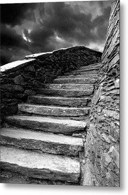 Dolbadarn Castle Steps Metal Print by Duncan Rowe