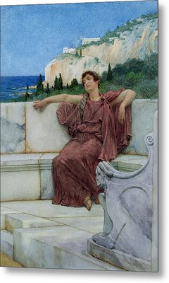 Dolce Far Niente Metal Print by Sir Lawrence Alma-Tadema
