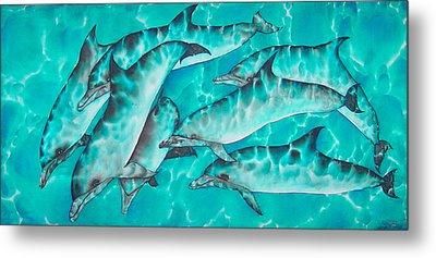 Dolphin Pod Metal Print by Daniel Jean-Baptiste