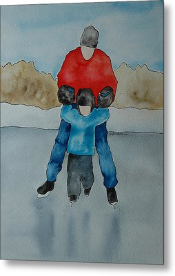 Don't Let Go Dad Metal Print by Twyla Wehnes