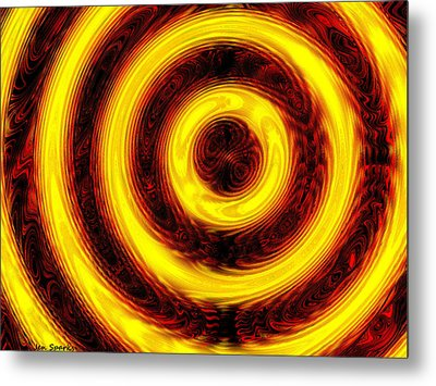 Don't Stop The Music Metal Print by Jen Sparks