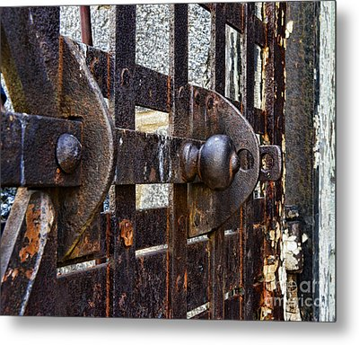 Door To Death Row Metal Print by Paul Ward
