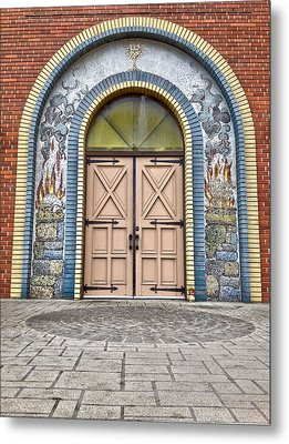 Doors Of Faith  Metal Print by JC Photography and Art