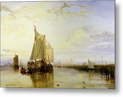 Dort Or Dordrecht - The Dort Packet-boat From Rotterdam Becalmed Metal Print by Joseph Mallord William Turner