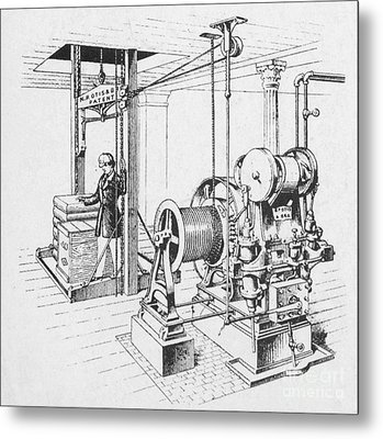Double Oscillating Steam Engine Metal Print by Science Source