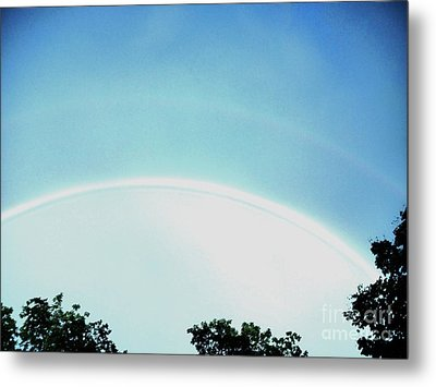 Double Rainbow After The Storm Metal Print by Marsha Heiken