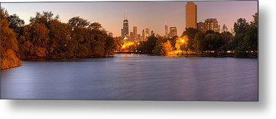 Downtown Chicago From Lincoln Park Metal Print by Twenty Two North Photography
