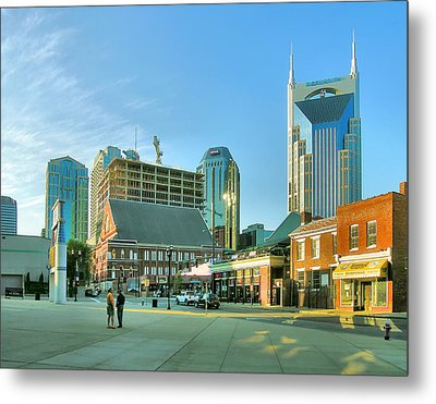 Downtown Nashville IIi Metal Print by Steven Ainsworth
