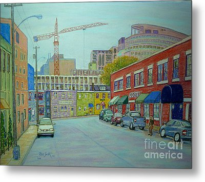 Doyle Street Halifax Metal Print by Rae  Smith PSC